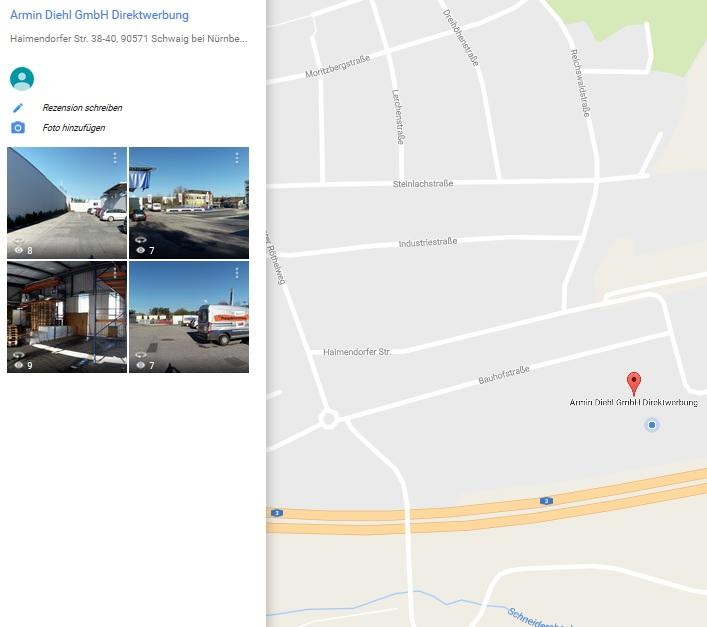 Google Maps Armin Diehl GmbH
